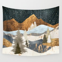 Winter Stars Wall Tapestry