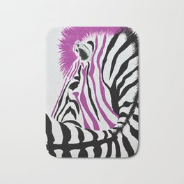Pink Punk Rock Zebra Bath Mat