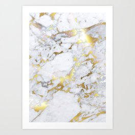 Original Gold Marble Art Print