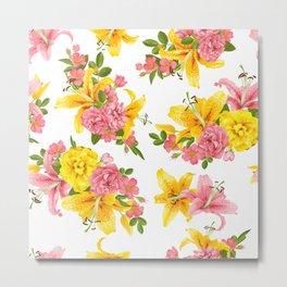 rose & lily Metal Print