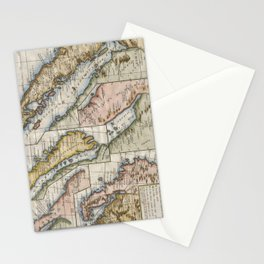 Vintage Map of California (1772) Stationery Cards
