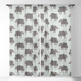 Slightly Sarcastic Yak Sheer Curtain