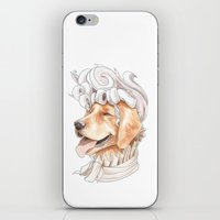 golden retriever iPhone & iPod Skins featuring Golden Retriever by Petty Portraits
