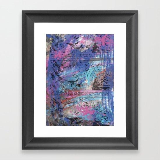 B@stard B@nker Framed Art Print