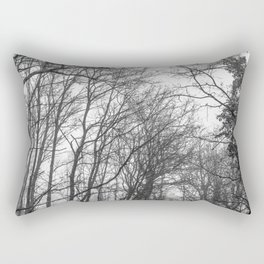 Black and white misty forest Rectangular Pillow