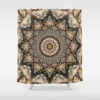 psych Shower Curtains featuring Mandala Isolation by Christine baessler