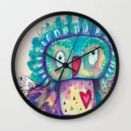 Quirky Bird2 Wall Clock