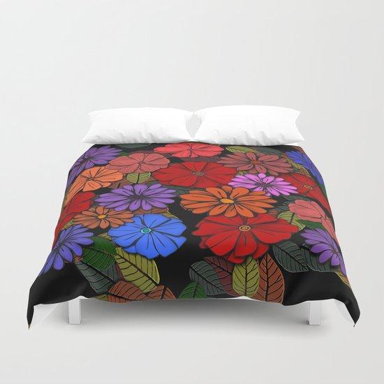 Abstract #393 Flower Power #4 Duvet Cover