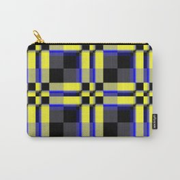 pattern jellow blue black Carry-All Pouch