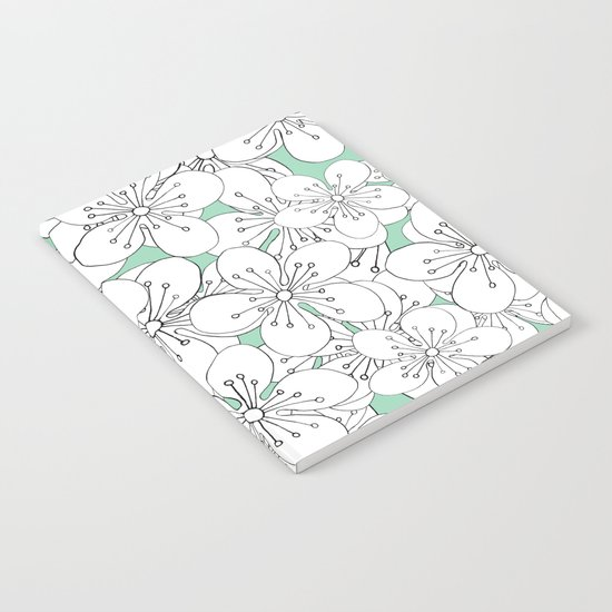 Cherry Blossom With Mint Blocks - In Memory of Mackenzie Notebook