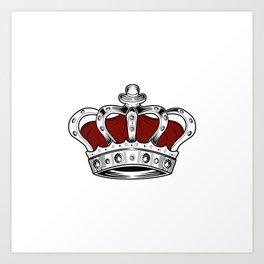 Crown - Red Art Print