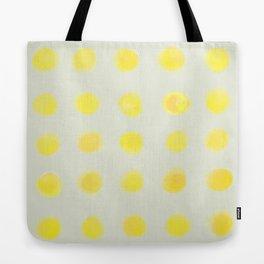 yellow polka dots Tote Bag