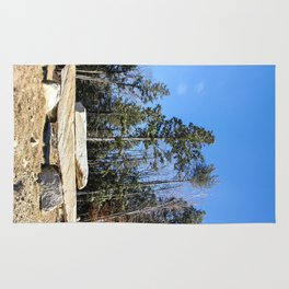 Rock Pile Among The Trees Rug