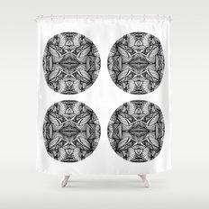 Zen Circles Shower Curtain