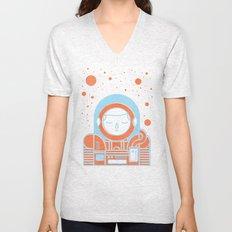 Orange Space Unisex V-Neck
