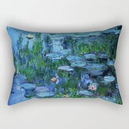 Claude Monet Water Lilies / Nymphéas deep Rectangular Pillow