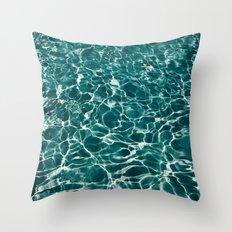 SEA - blue , white ocean , waves , clear , clarity Throw Pillow