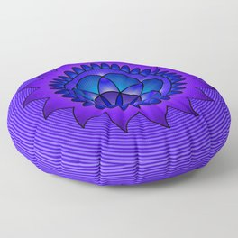 Hypnotic mandala Floor Pillow