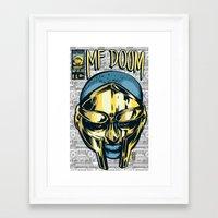 mf doom Framed Art Prints featuring MF Doom Comic by Thomcat23