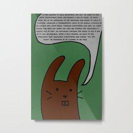 The Wisecrack Wabbit Metal Print