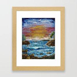 """""""Somewhere Sunset"""" Framed Art Print"""