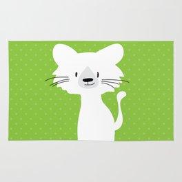 Green cat Rug