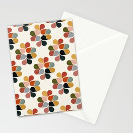 Retro geometry pattern Stationery Cards