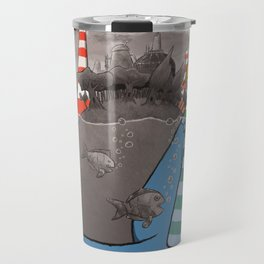 Underwater's (black & white with colors version) Travel Mug