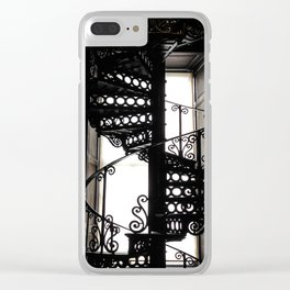 Trinity College Library Spiral Staircase Clear iPhone Case