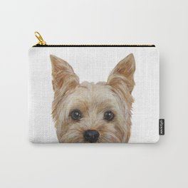 Yorkshire Terrier original painting print Carry-All Pouch