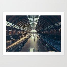 Sao Paulo Train Station Art Print
