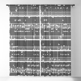 Music sheet Sheer Curtain