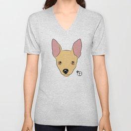 Chihuahua Face Unisex V-Neck