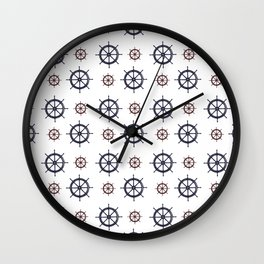 Nautical Helms Wall Clock