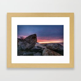 Sunset at Kings Park Bluff Framed Art Print