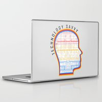 technology Laptop & iPad Skins featuring Technology Savvy by Adil Siddiqui