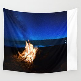 Light the fire, watch the stars Wall Tapestry