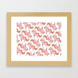 UNICORN VIBE Framed Art Print