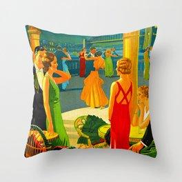 Vintage Sydney Australia Travel Throw Pillow