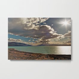 Lake Pukaki: Rays of Sunshine Metal Print