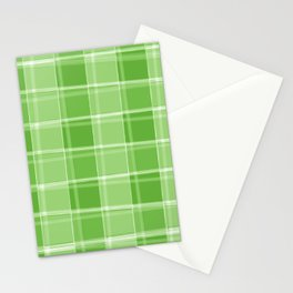 Chalk strokes of light and green lines on a calm background. Stationery Cards