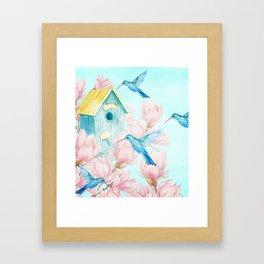 Sweet Summer (Hummingbird Paradise) Framed Art Print