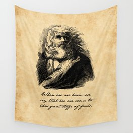 King Lear - William Shakespeare Wall Tapestry