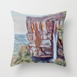 Lovers Leap at Rock City Throw Pillow