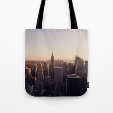 another Empire State Building shot   colored Tote Bag