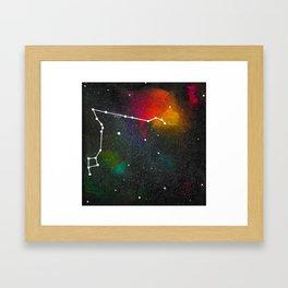 Pisces constellation Framed Art Print