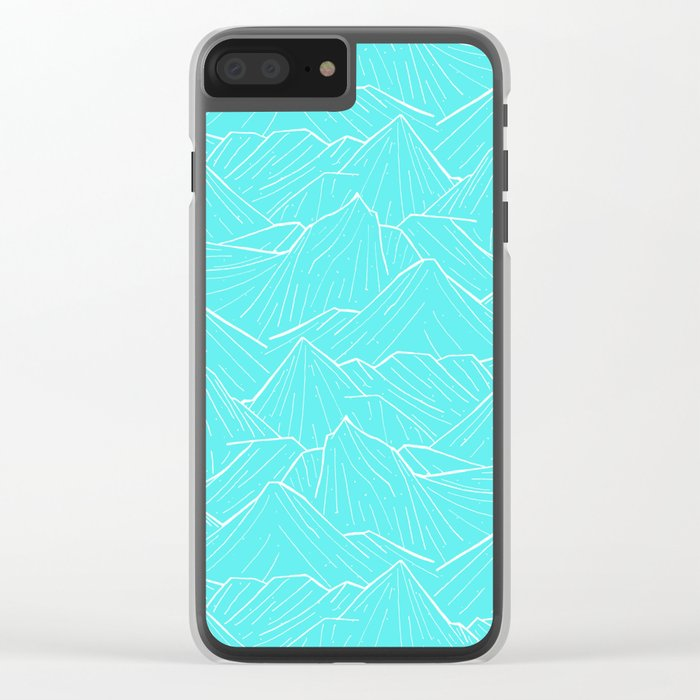 The Cold Blue Clear iPhone Case