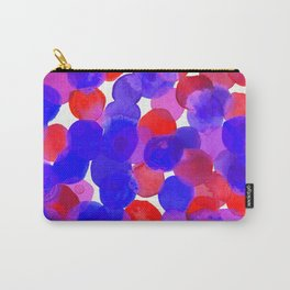 Watercolor Circles - Blue Red & Purple Palette Carry-All Pouch