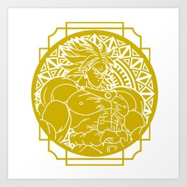 Stained Glass - Dragonball - Broly Art Print