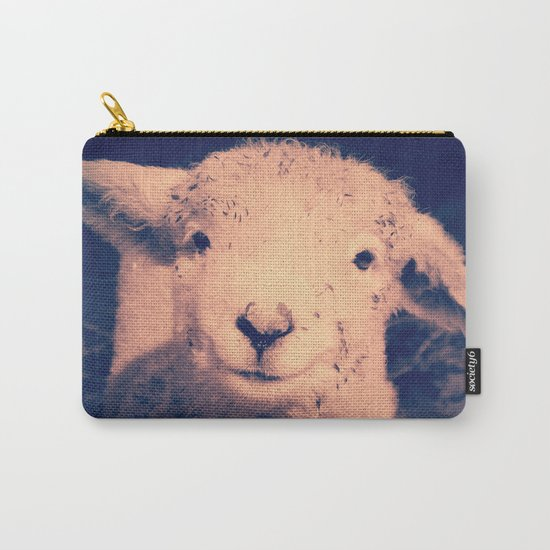 Innocence (Smiling White Baby Sheep) Carry-All Pouch